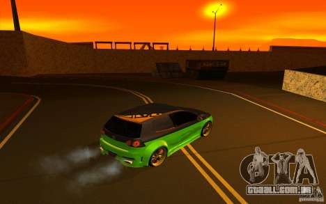 Volkswagen Golf V R32 Custom para GTA San Andreas vista interior