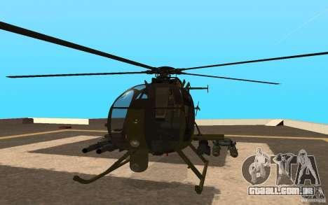AH 6 para GTA San Andreas vista traseira