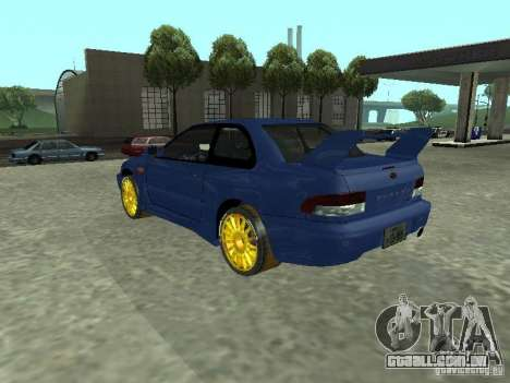 Subaru Impreza 22B STI para GTA San Andreas esquerda vista