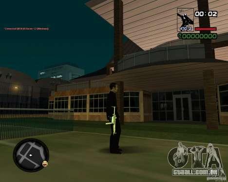 MP5 Gold para GTA San Andreas terceira tela