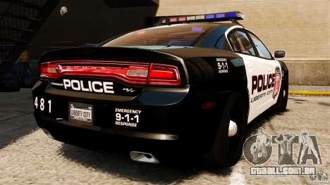Dodge Charger RT Max Police 2011 [ELS] para GTA 4 traseira esquerda vista