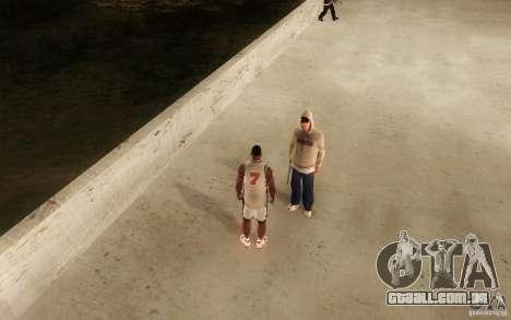 Sombras mais fortes em pedestres para GTA San Andreas quinto tela