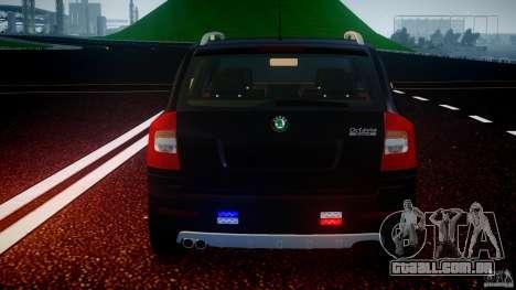 Skoda Octavia Scout Unmarked [ELS] para GTA 4 motor