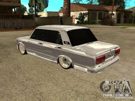VAZ 2107 conversível para GTA San Andreas vista direita