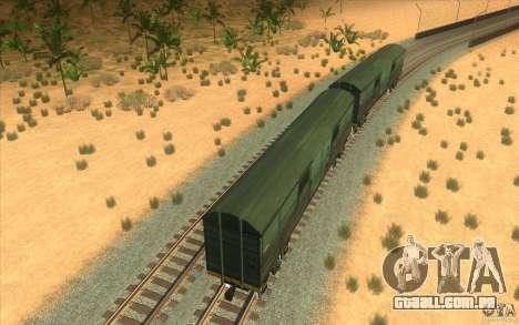 Um trem do jogo Half-Life 2 para vista lateral GTA San Andreas
