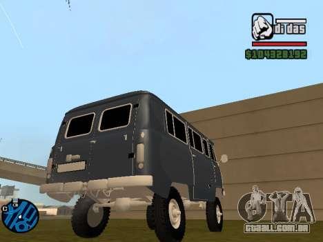 UAZ 2206 BPAN para GTA San Andreas esquerda vista