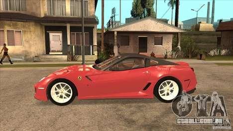 Ferrari 599 GTO 2010 V1.0 para GTA San Andreas esquerda vista