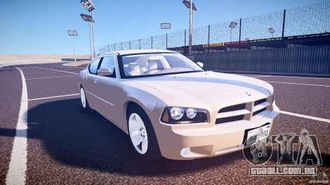 Dodge Charger RT Hemi 2007 Wh 1 para GTA 4 vista de volta