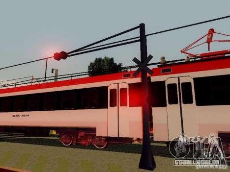 FERROVIÁRIA atravessando RUS V 2.0 para GTA San Andreas quinto tela