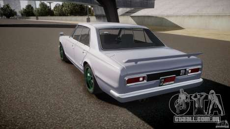 Nissan Skyline GC10 2000 GT v1.1 para GTA 4 vista lateral