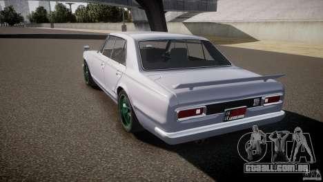 Nissan Skyline GC10 2000 GT v1.1 para GTA 4 vista lateral