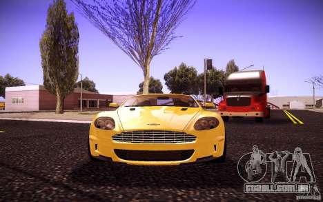 Aston Martin DBS para GTA San Andreas vista traseira