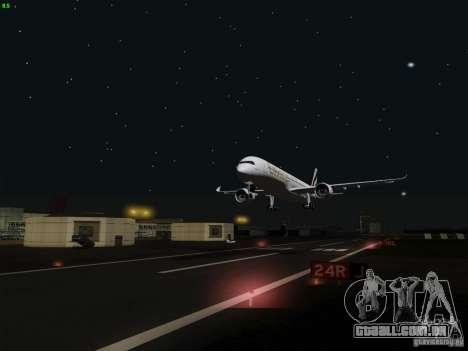 Airbus A350-900 Emirates para vista lateral GTA San Andreas