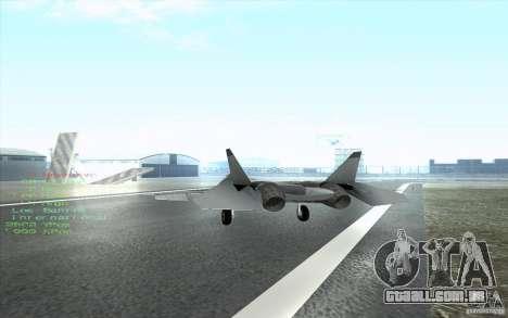 SU t-50 Pak FA para GTA San Andreas vista interior