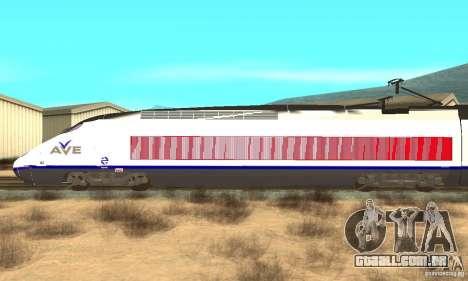 Express Train para GTA San Andreas esquerda vista
