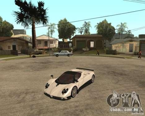 Pagani Zonda F para GTA San Andreas