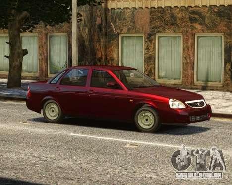 VAZ 2170 de Lada Priora para GTA 4 vista inferior