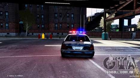 CVPI LCPD San Diego Police Department para GTA 4 vista direita