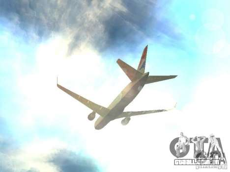 Boeing 767-300 British Airways para GTA San Andreas vista superior