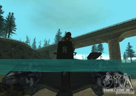 Barco inflável do Zodíaco para GTA San Andreas vista direita