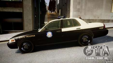 Ford Crown Victoria Fl Highway Patrol Units ELS para GTA 4 esquerda vista