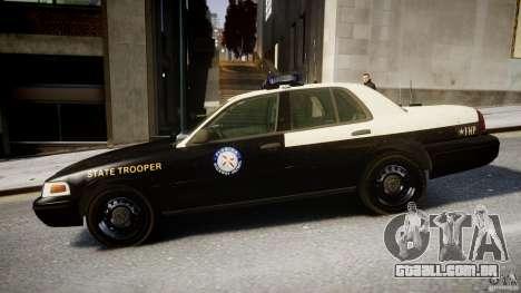 Ford Crown Victoria Fl Highway Patrol Units ELS para GTA 4 esquerda vista