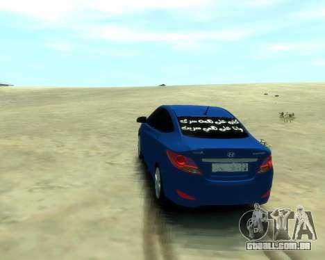 Hyundai Solaris Arab Edition para GTA 4 esquerda vista
