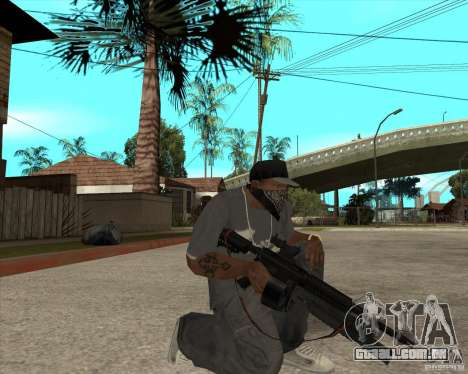 M4 Drum Magazine para GTA San Andreas segunda tela