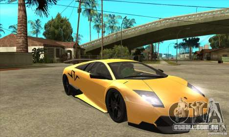 Lamborghini Murcielago LP 670 SV para GTA San Andreas vista traseira