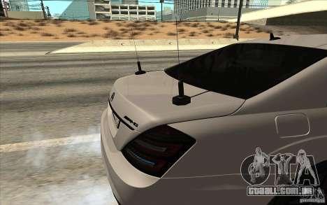 Mercedes-Benz S65 AMG com luzes piscando para GTA San Andreas esquerda vista