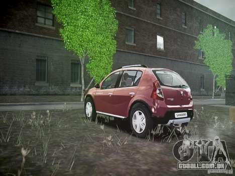 Dacia Sandero Stepway para GTA 4 traseira esquerda vista