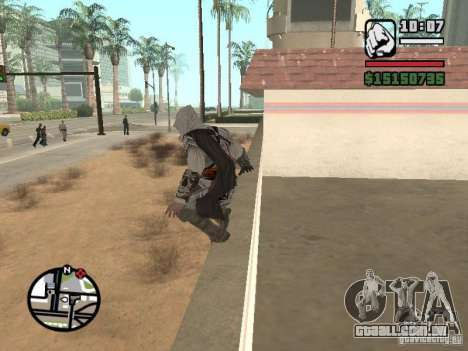 A capacidade do Assassins Creed para GTA San Andreas por diante tela