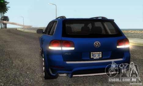 VolksWagen Touareg R50 JE Design Tuning para GTA San Andreas vista interior