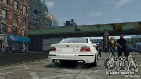 BMW M5 E39 BBC v1.0 para GTA 4 vista de volta