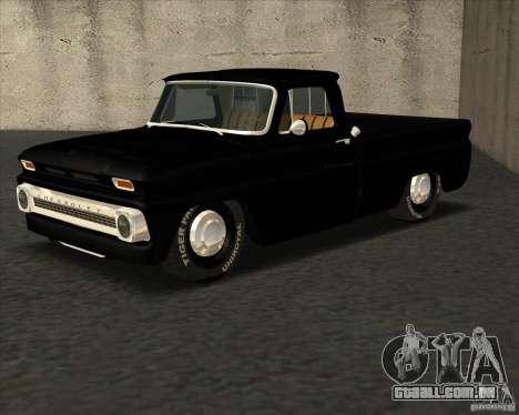 Chevrolet C10 1966 Slamvan Pickup Truck para GTA San Andreas