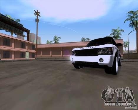Range Rover Hamann Edition para GTA San Andreas esquerda vista