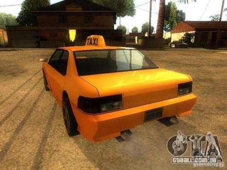 Taxi Sultan para GTA San Andreas traseira esquerda vista