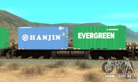 Lokomotive para GTA San Andreas traseira esquerda vista