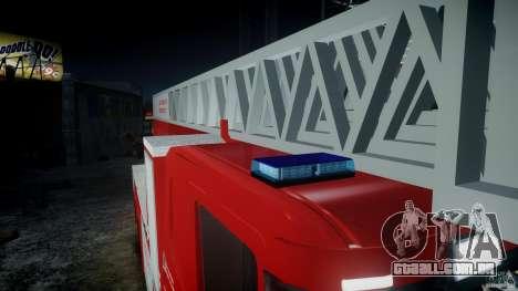 Scania Fire Ladder v1.1 Emerglights blue-red ELS para GTA 4 esquerda vista