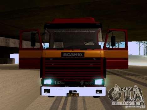 Scania 143M para vista lateral GTA San Andreas