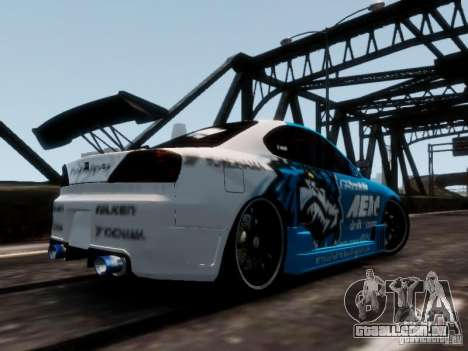 Nissm Silvia S15 Blue Tiger para GTA 4 esquerda vista