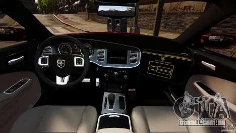 Dodge Charger RT Max FBI 2011 [ELS] para GTA 4 vista de volta