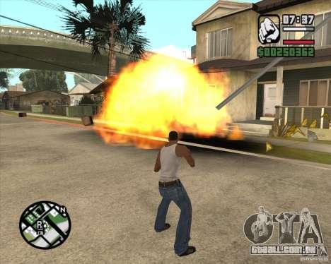 Explosão (versão para notebooks sem teclado numé para GTA San Andreas terceira tela