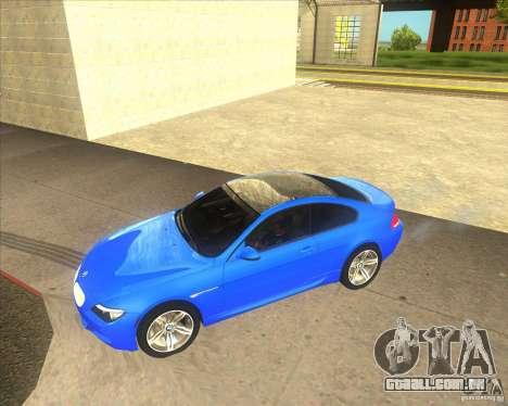 BMW M6 para GTA San Andreas esquerda vista