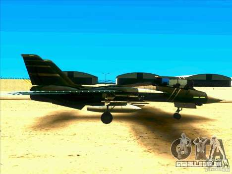 F-14 Tomcat Schnee para GTA San Andreas vista traseira