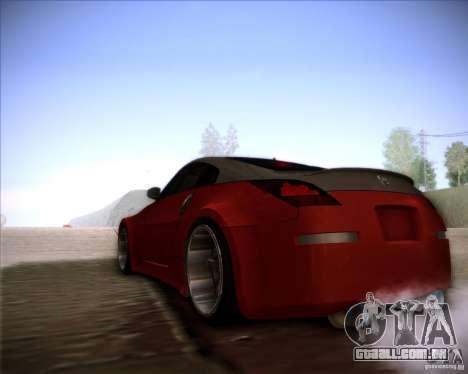 Nissan 350Z AdHoc para GTA San Andreas vista direita