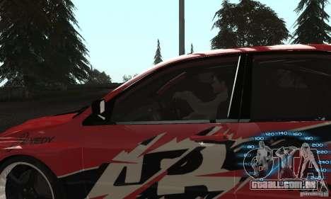 Mitsubishi Lancer IX APR para GTA San Andreas traseira esquerda vista