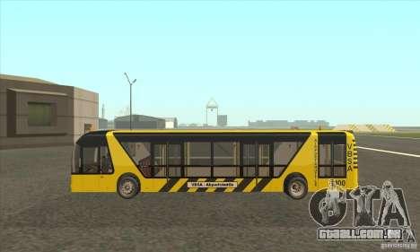 Ônibus para o aeroporto para GTA San Andreas esquerda vista
