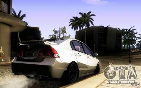 Honda Civic FD BlueKun para GTA San Andreas vista traseira