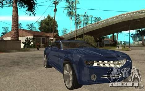 Chevrolet Camaro Concept Tunable para GTA San Andreas vista traseira
